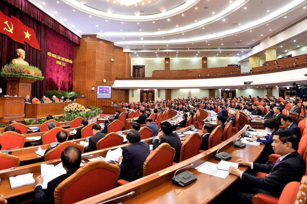 Phiên khai mạc hội nghị Trung ương 14, khoá XII, ngày 14/12. Ảnh: VGP