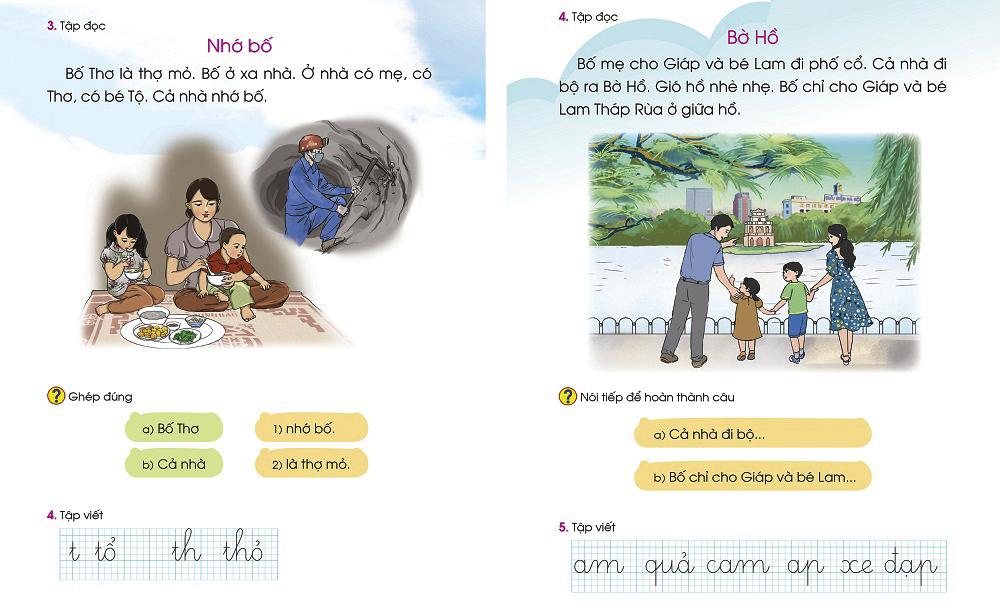 Hai bài đọc thay thế trong tài liệu điều chỉnh ngữ liệu sách Tiếng Việt 1 Cánh Diều. Ảnh: VEPIC.