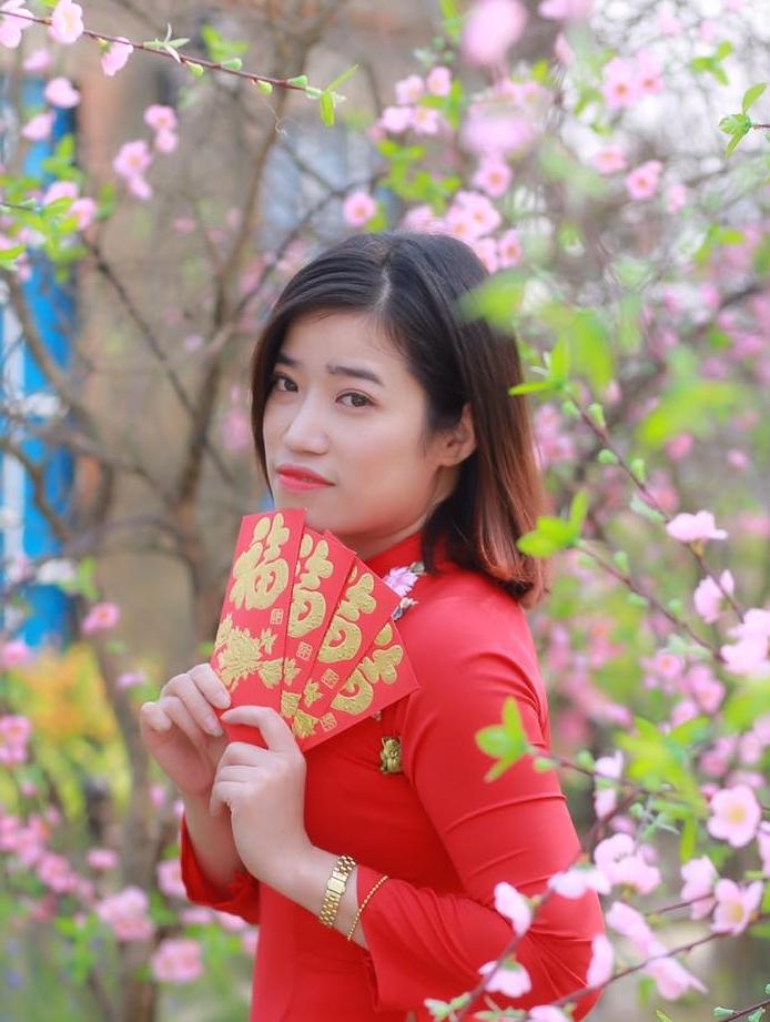 Cô Thanh Hà trong bộ ảnh đón tết. Ảnh: Nhân vật cung cấp