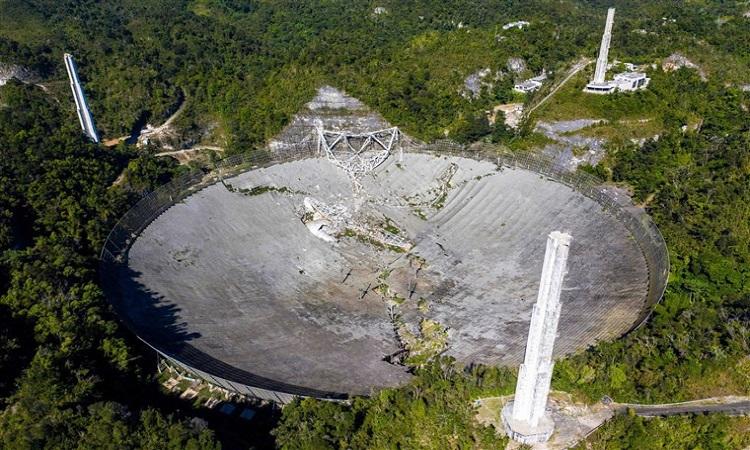 Το τηλεσκόπιο Aresibo κατέρρευσε.  Φωτογραφία: Ricardo Ardungo / AFP.