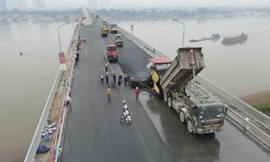 Cầu Thăng Long trước ngày hoàn thành sửa chữa
