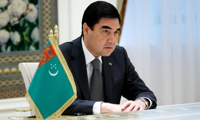 Tổng thống Turkmenistan Gurbanguly Berdimuhamedov trong một cuộc họp năm 2016. Ảnh: RIA.
