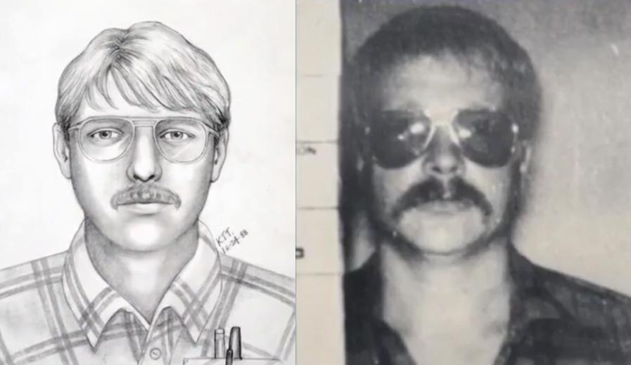 Phác họa chân dung nghi phạm trong vụ án của Wendy Gant có nét tương đồng với Daniel Corwin. Ảnh: HLN.