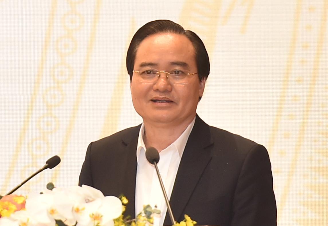 Bộ trưởng Giáo dục và Đào tạo Phùng Xuân Nhạ phát biểu tại Hội nghị Chính phủ với các địa phương, sáng 29/12. Ảnh: Quang Hiếu