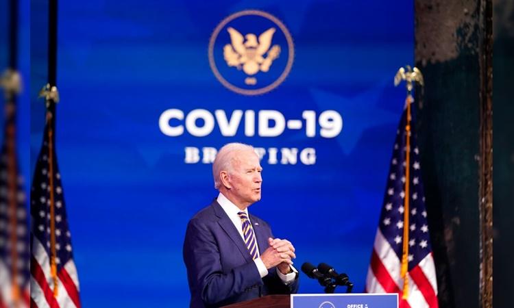Tổng thống đắc cử Mỹ Joe Biden phát biểu tại quê nhà Wilmington, Delaware, ngày 29/12. Ảnh: AP.
