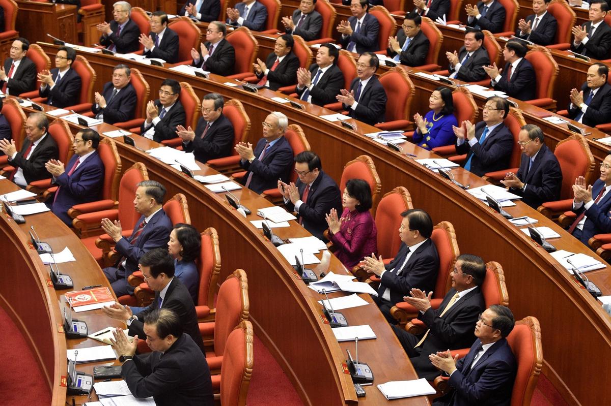 Đại biểu tham dự hội nghị Trung ương 12, khóa XII, tháng 5/2020. Ảnh: VGP