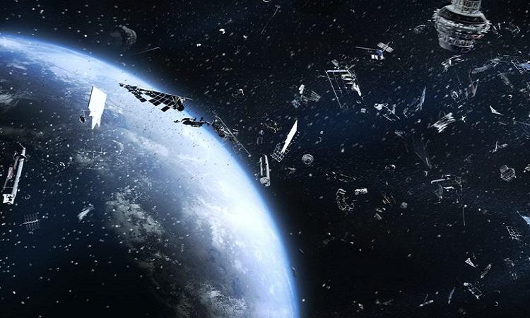 Mô phỏng rác vũ trụ bao quanh Trái Đất. Ảnh: Getty.