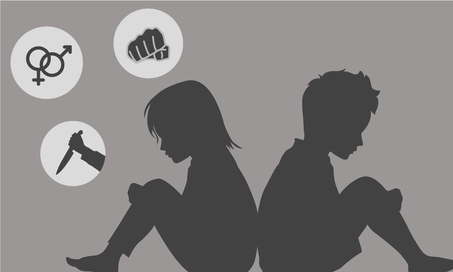 Trẻ em bị xâm hại tình dục thường có biểu hiện tự ti, lo sợ. Ảnh: Đồ họa VnExpress.