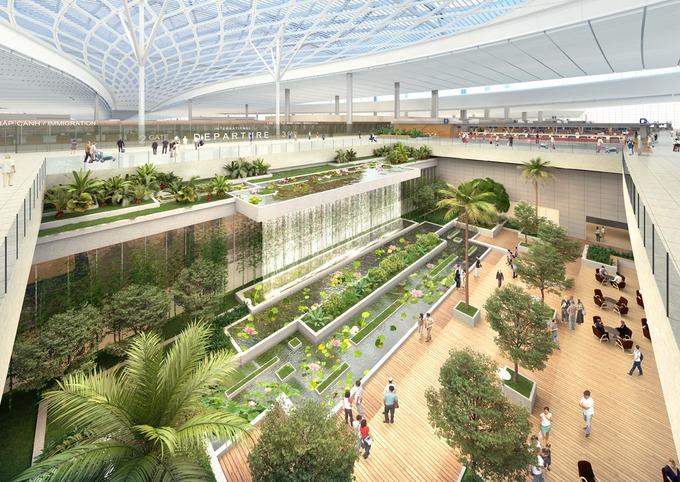 Thiết kế sảnh đến của sân bay Long Thành. Ảnh: ACV