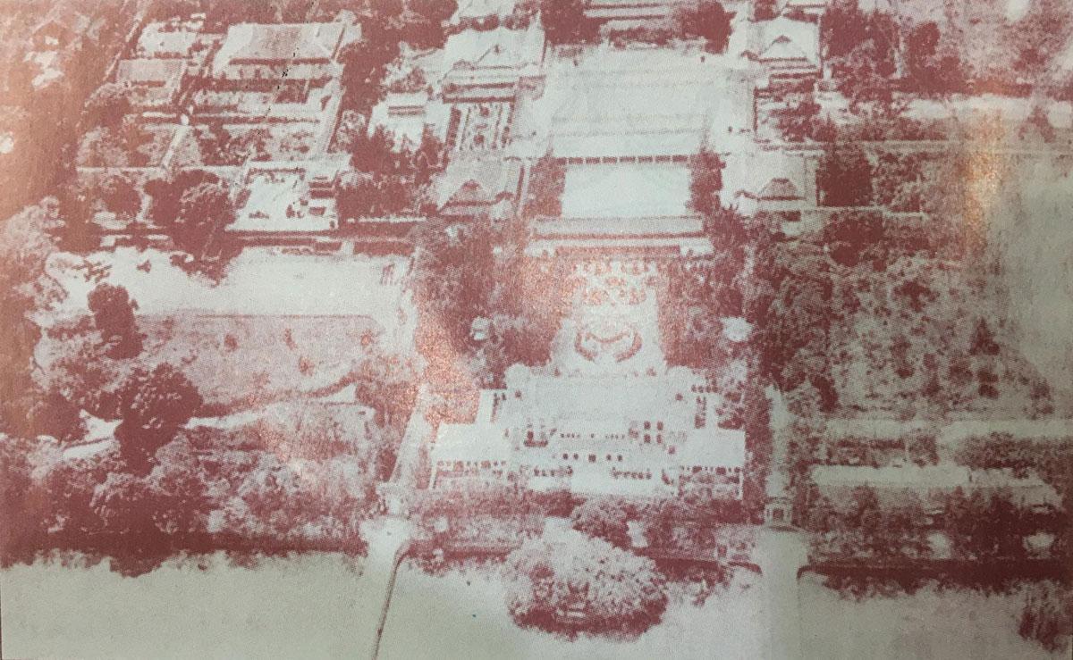 Tử Cấm thành nhìn từ phía bắc, ảnh chụp từ máy bay khoảng năm 1932. Nguồn: Phan Thuận An.