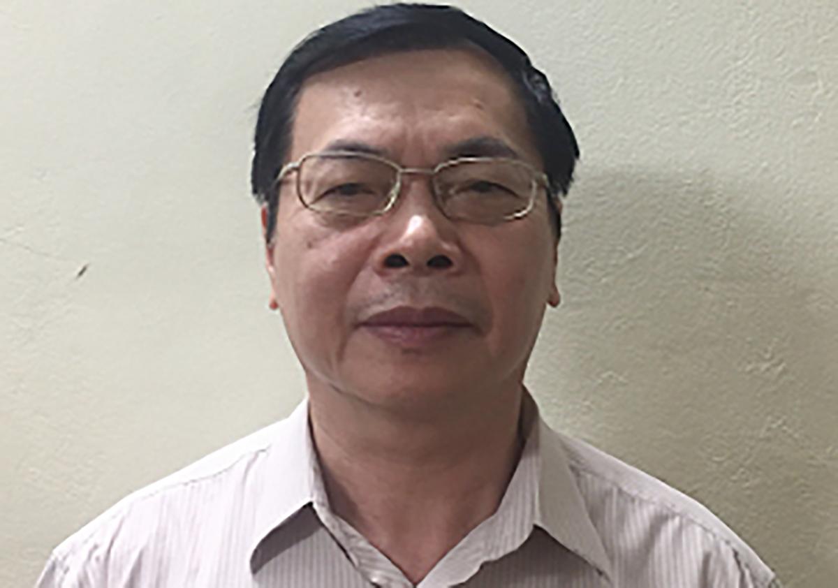 Ông Hoàng lúc bị khởi tố hồi tháng 7. Ảnh: Bộ Công an.