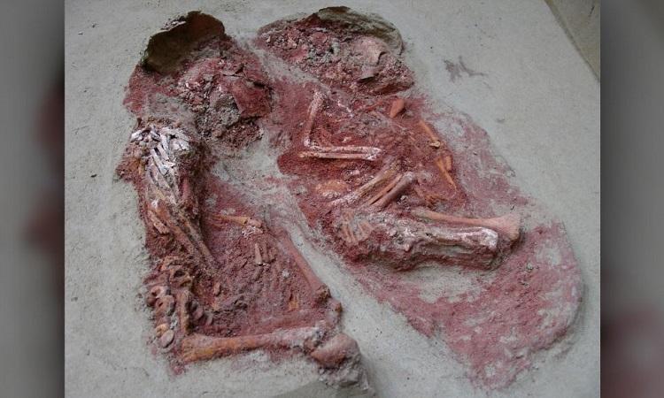 Ngôi mộ của cặp song sinh cổ đại. Ảnh: OREA ÖAW.