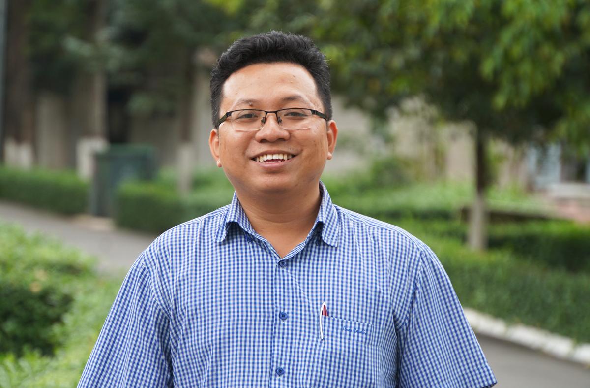 PGS Lê Minh Triết, người trẻ nhất được công nhận chức danh Phó giáo sư năm 2020. Ảnh: Mạnh Tùng.