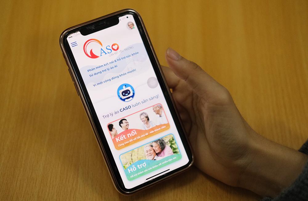 Giao diện chính của app Caso. Ảnh: Dương Tâm.