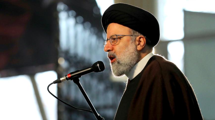 Bộ trưởng Tư pháp Iran Ebrahim Raisi phát biểu tại lễ kỷ niệm một năm tướng Soleimani bị hạ sát ở Tehran ngày 1/1. Ảnh: AP.