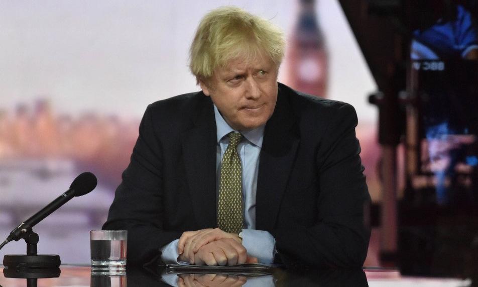 Thủ tướng Johnson trong cuộc phỏng vấn ngày 3/1. Ảnh: AFP.