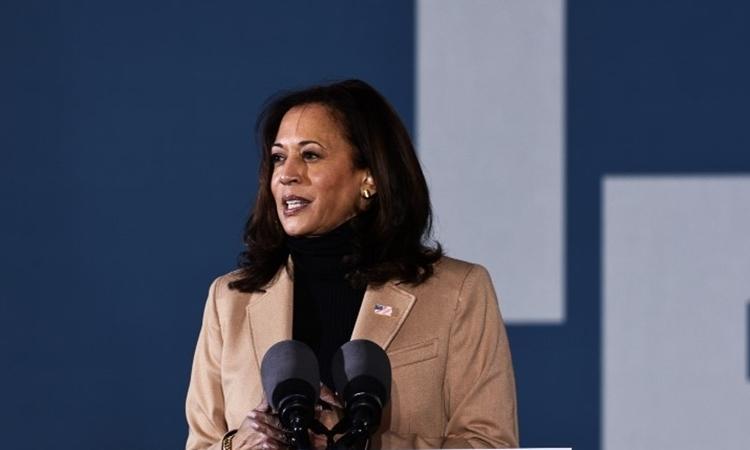 , Phó tổng thống đắc cử Kamala Harris trong một sự kiện ở Savannah, Georgia, hôm 3/1. Ảnh: AFP.
