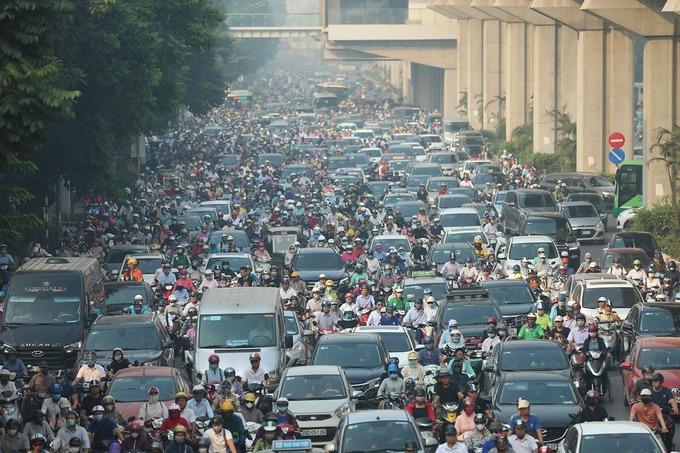 Ùn tắc trên đường Nguyễn Trãi (TP Hà Nội) tháng 5/2020. Ảnh: Ngọc Thành