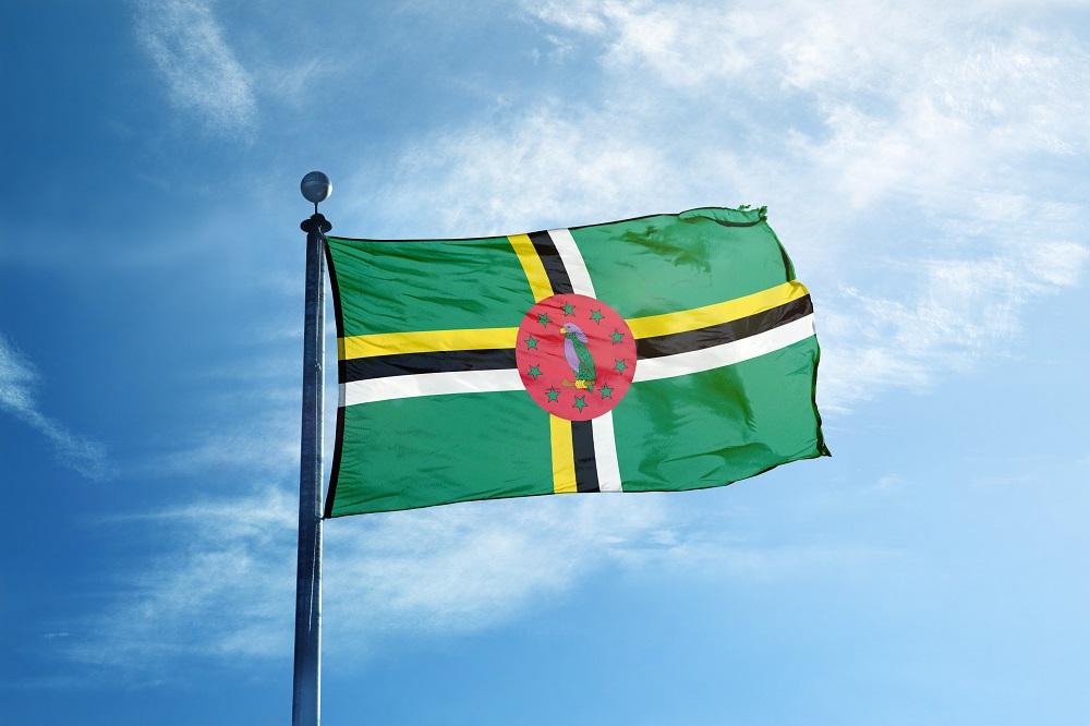 Quốc kỳ của nước Thịnh vượng chung Dominica. Ảnh: Shutterstock.