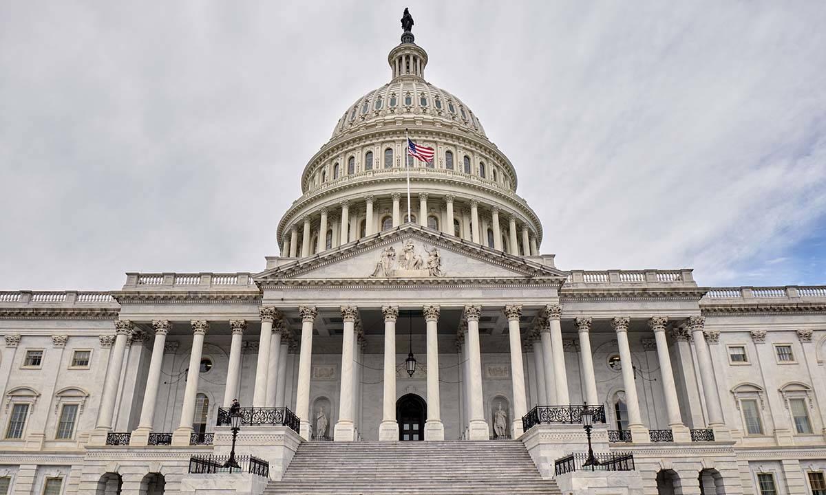 Tòa nhà quốc hội Mỹ tại đồi Capitol ở thủ đô Washington. Ảnh: AP.