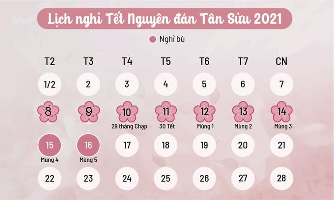 Lịch nghỉ Tết của học sinh Hà Nội.