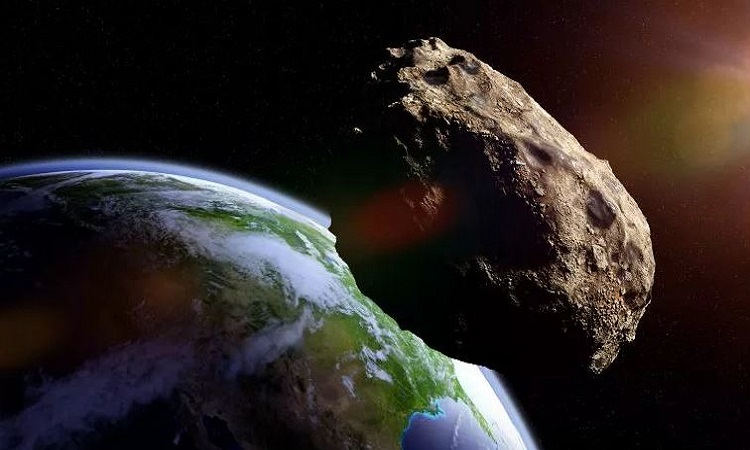 Mô phỏng một thiên thạch bay gần Trái Đất. Ảnh: iStock.