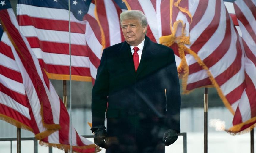 Trump xuất hiện trước người ủng hộ tại thủ đô Washington hôm 6/1. Ảnh: AFP.