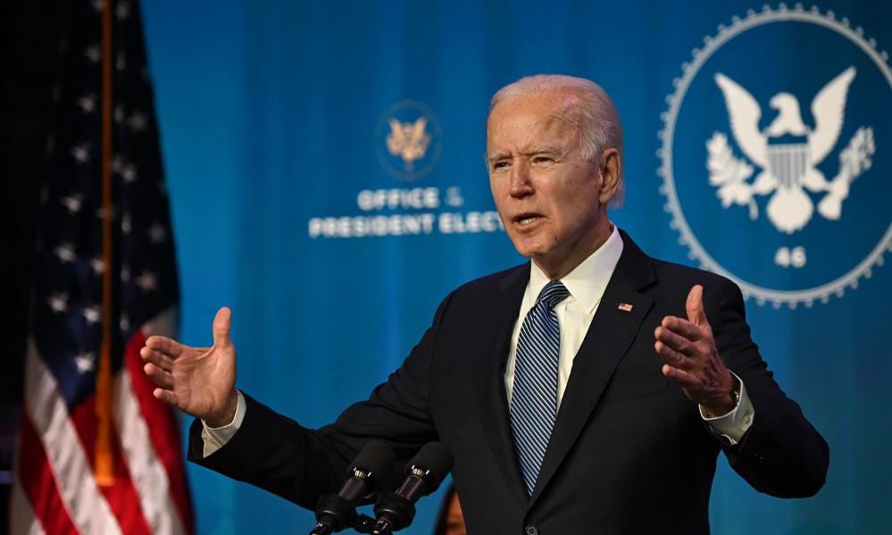 Tổng thống đắc cử Mỹ Joe Biden phát biểu tại thành phố Wilmington, bang Delaware, hôm 7/1. Ảnh: AFP.