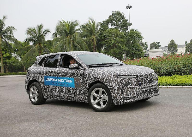 Mẫu xe điện mới của VinFast trong quá trình thử nghiệm. Ảnh: VinFast.