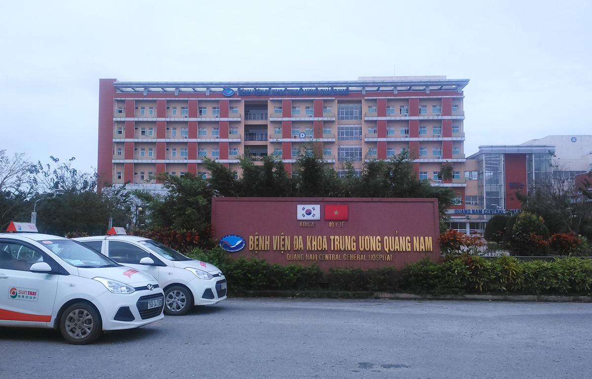 Bệnh viện Đa khoa Trung ương Quảng Nam nơi ba người công tác. Ảnh: Sơn Thủy.