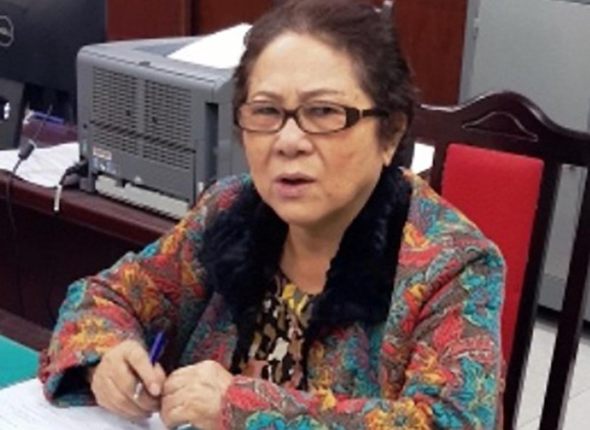 Bà Dương Thị Bạch Diệp tại cơ quan điều tra hồi tháng 1/2019. Ảnh: Bộ Công an.