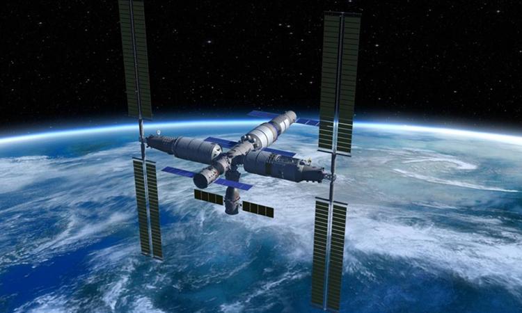 Trạm vũ trụ Trung Quốc dự kiến đi vào hoạt động năm 2022. Ảnh: CMSA.