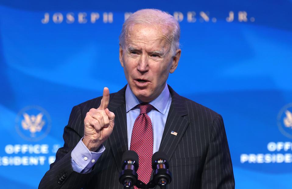 Tổng thống đắc cử Mỹ Joe Biden tại Delaware ngày 8/1. Ảnh: AFP.