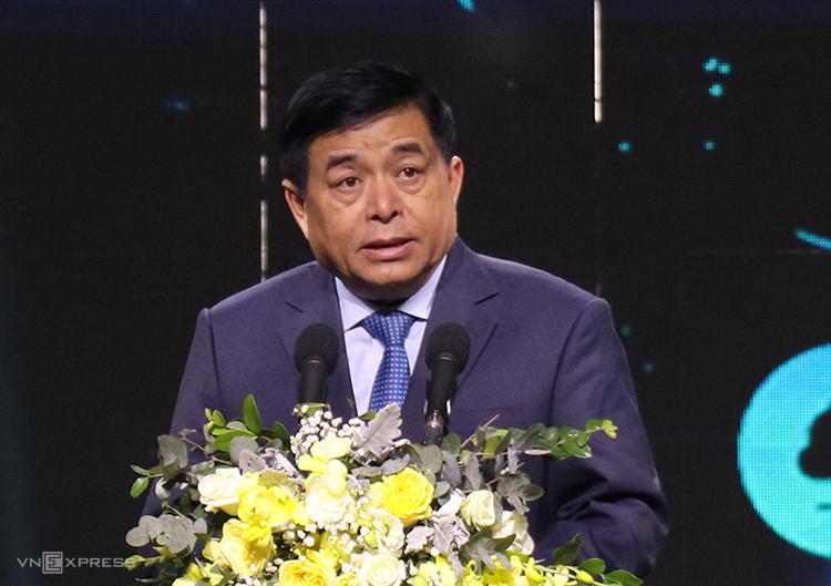 Bộ trưởng Kế hoạch và Đầu tư Nguyễn Chí Dũng phát biểu tại sự kiện. Ảnh: NX.