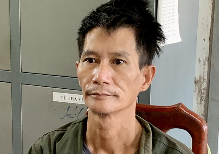 Trần Thanh Kiệt tại cơ quan công an. Ảnh: An Phú