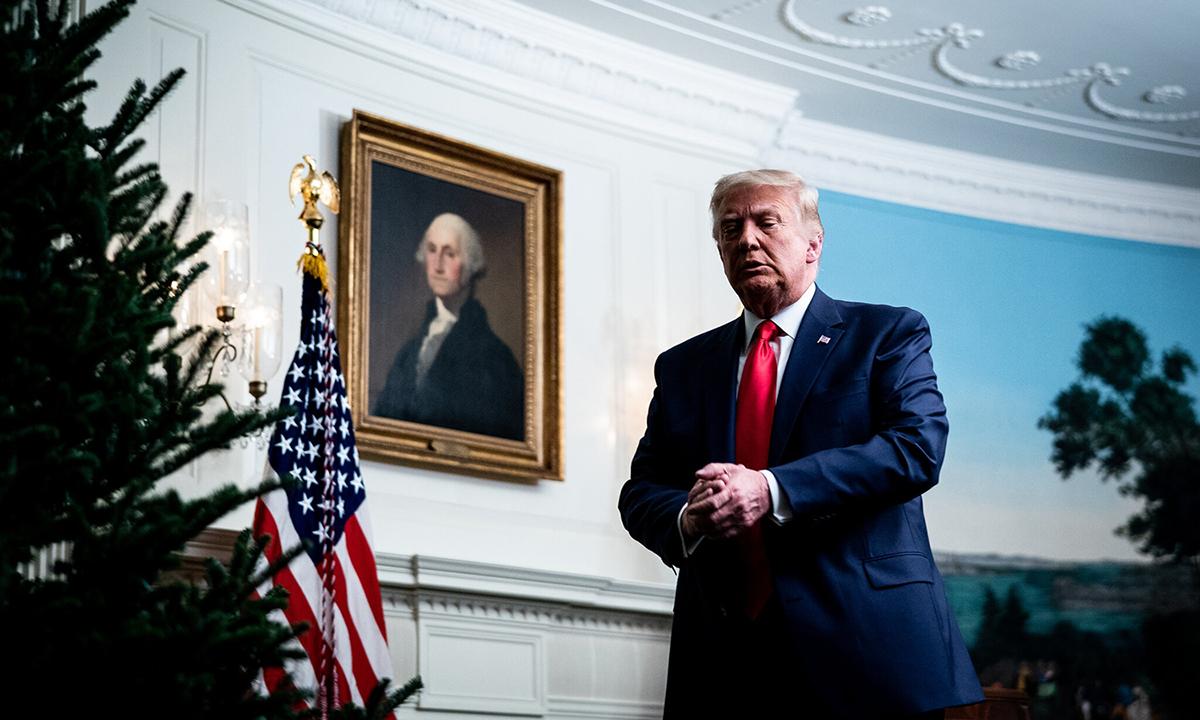 Tổng thống Donald Trump tại Nhà Trắng hồi cuối tháng 11/2020. Ảnh: NYTimes.