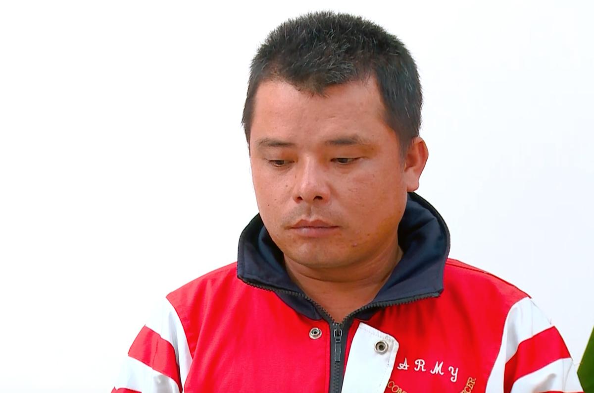 Nguyễn Phước Quang tại cơ quan điều tra. Ảnh: Công an cung cấp.