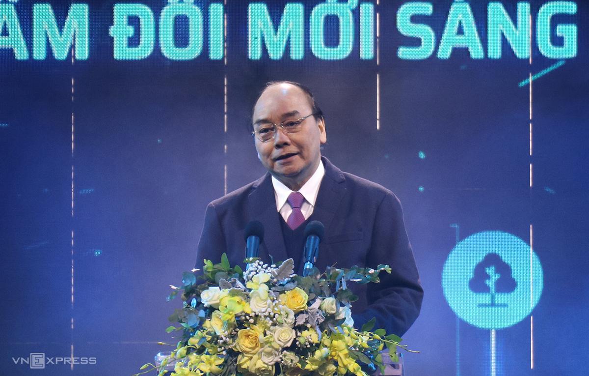Thủ tướng Nguyễn Xuân Phúc phát biểu tại sự kiện. Ảnh: NX.
