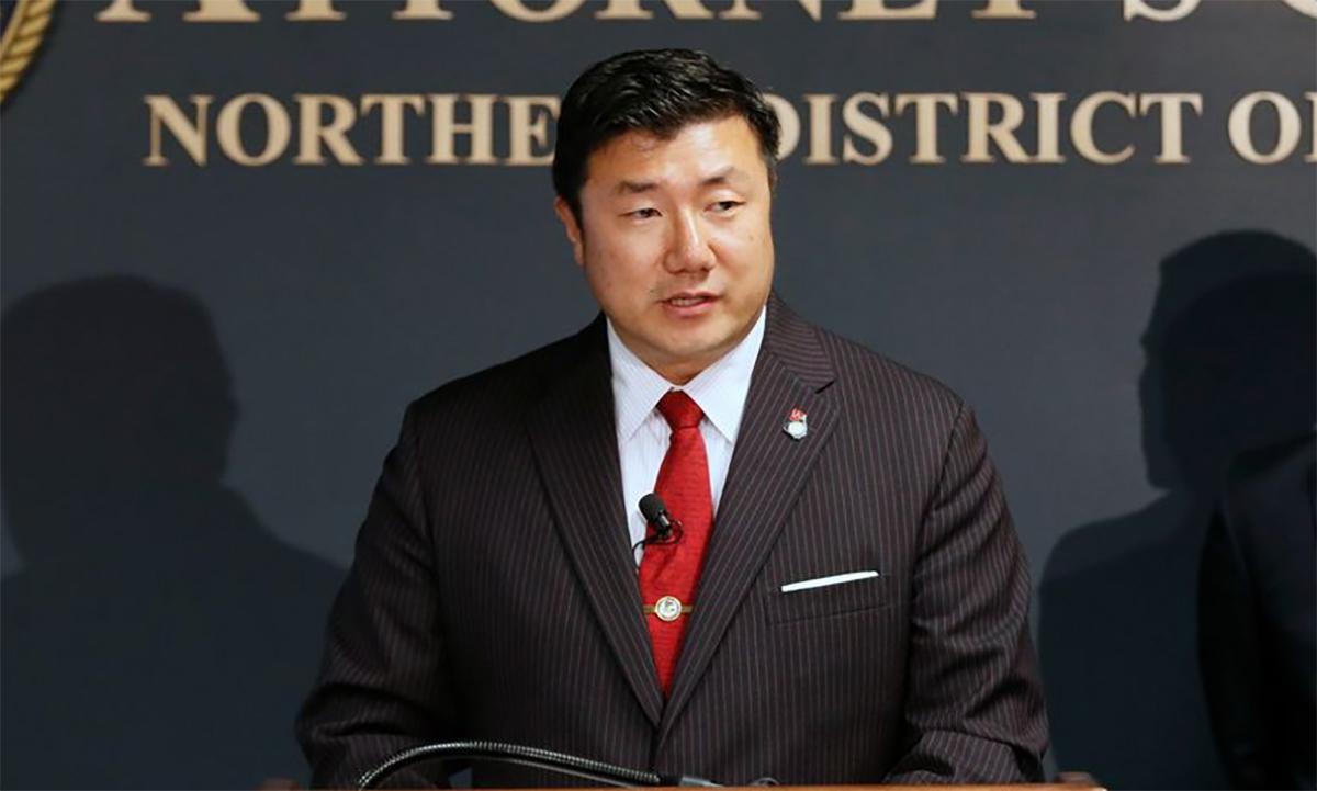 Byung J. Pak phát biểu tại một sự kiện ở Atlanta năm 2019. Ảnh: AP.