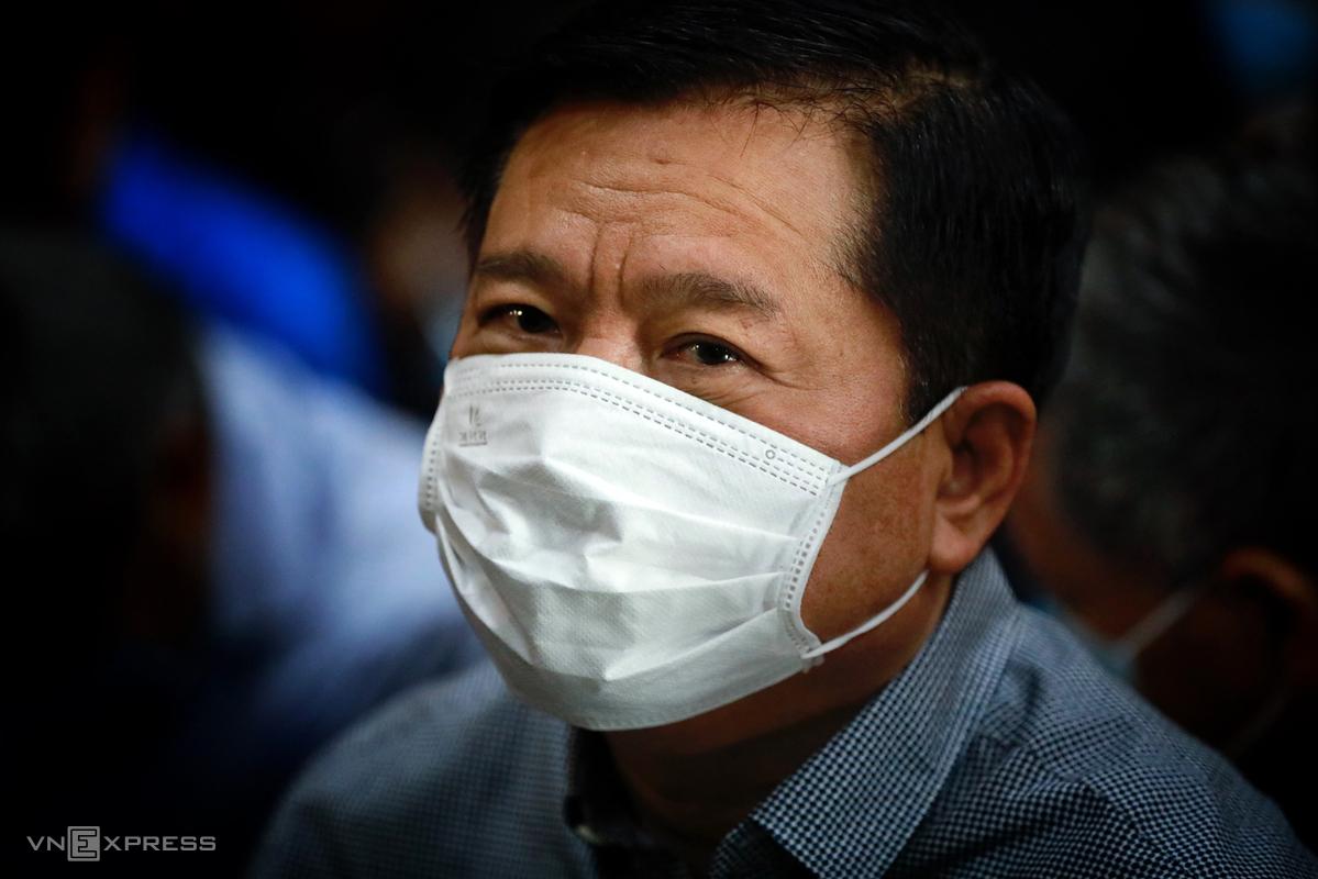 Ông Đinh La Thăng tại phiên toà ở TP HCM, tháng 12/2020. Ảnh: Hữu Khoa.