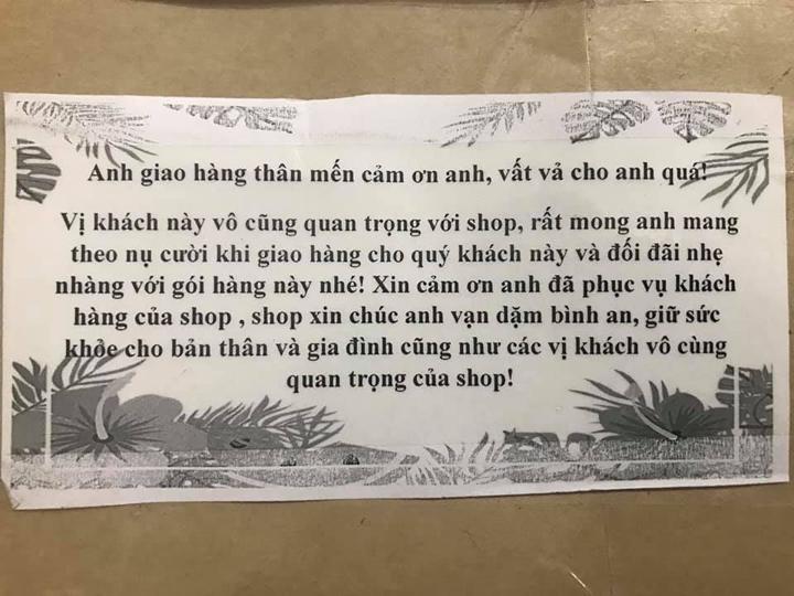 Chủ shop nhắn nhủ shipper nhẹ tay vì nghệ sĩ tương lai - 2