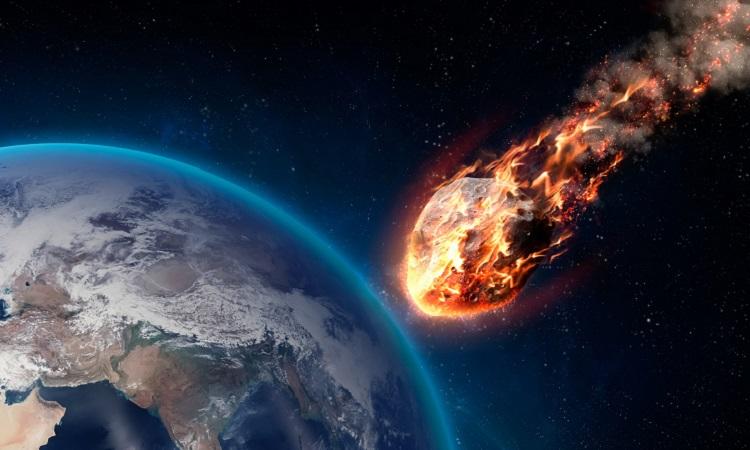Mô phỏng thiên thạch có khả năng gây nguy hiểm khi bay gần Trái Đất. Ảnh: Inquirer.