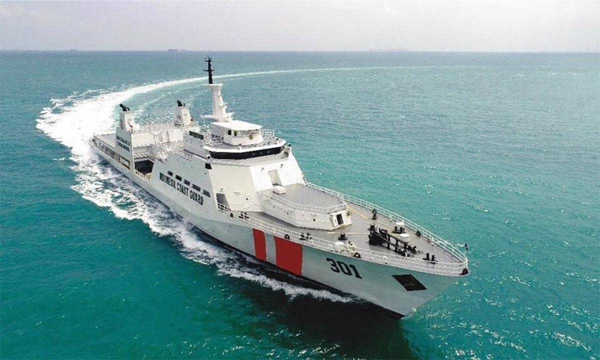 Tàu tuần tra xa bờ Tanjung Datu của cảnh sát biển Indonesia. Ảnh: Bakamla.