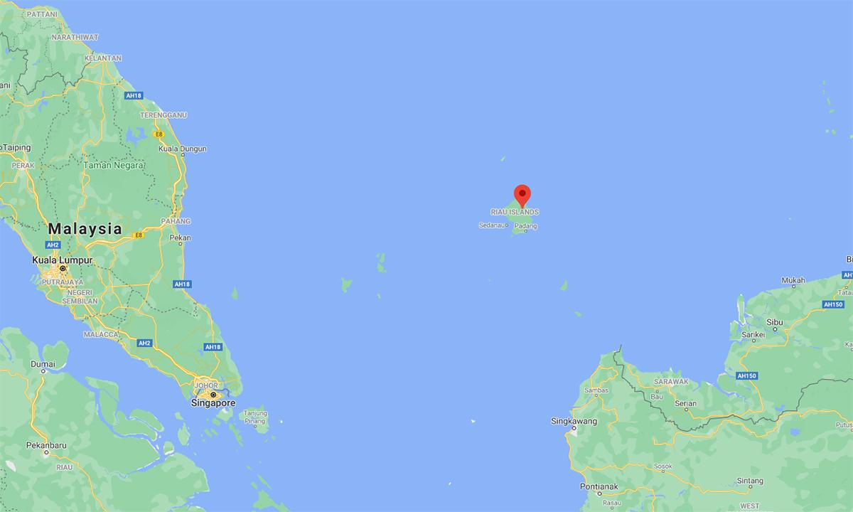 Vị trí quần đảo Natuna của Indonesia. Đồ họa: Google.