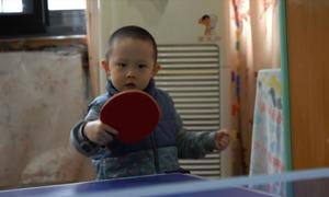 Thần đồng bóng bàn 3 tuổi
