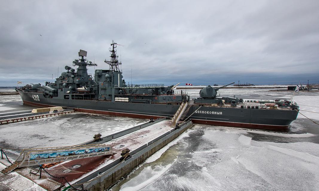 Tàu khu trục Bespokoynyy tại cảng Kronstadt hồi năm 2018. Ảnh: Wikipedia.