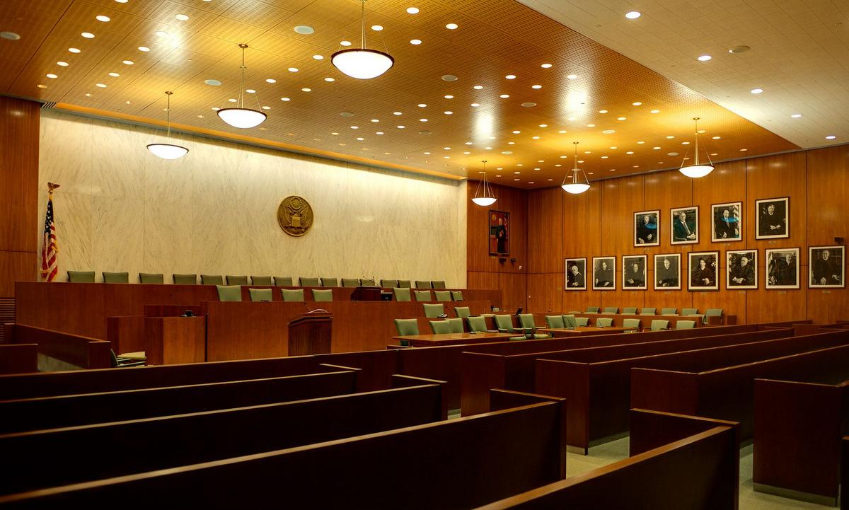 Phòng xử của tòa án Quận Đông thành phố New York. Ảnh: US Courts.