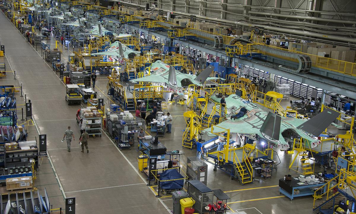 Dây chuyền chế tạo tiêm kích F-35 của Mỹ. Ảnh: Lockheed Martin.