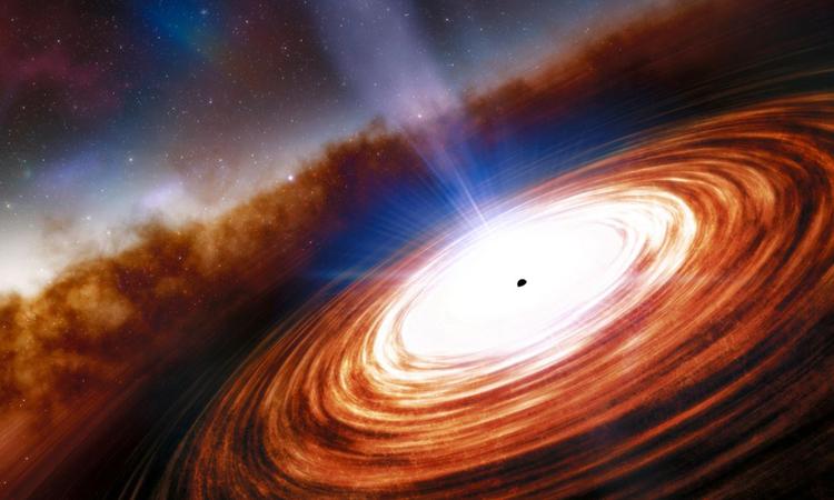 Minh họa chuẩn tinh, một trong những vật thể sáng nhất vũ trụ. Ảnh: NOIRLab/NSF/AURA/J. Da Silva.