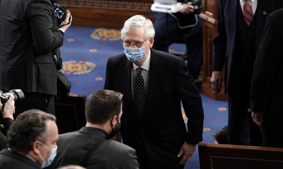 McConnell trong phiên họp tại Đồi Capitol hôm 6/1. Ảnh: AFP.